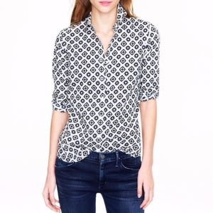 J. Crew Perfect Shirt in Foulard Size 8